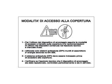 Targhetta identificativa accesso TARGHETTA IDENTIFICATIVA ACCESSO