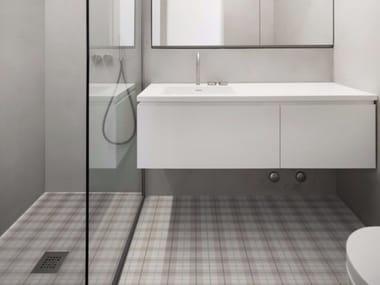 Pavimento in gres porcellanato smaltato effetto tessuto TARTAN | Pavimento