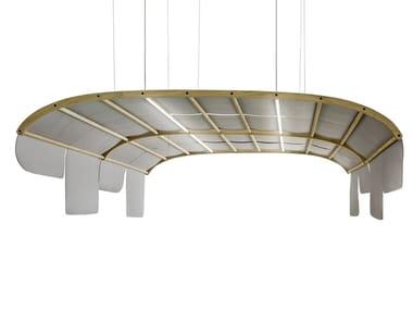 Pannello acustico a sospensione con illuminazione integrata TARTANA | Pannello acustico a sospensione con illuminazione integrata