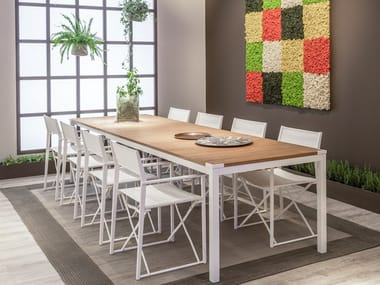 Extending rectangular dining table TASIA