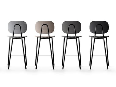 Technopolymer stool with footrest TATA | Stool