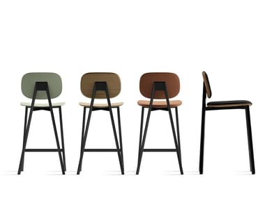 Contemporary style stool with footrest TATA | Stool