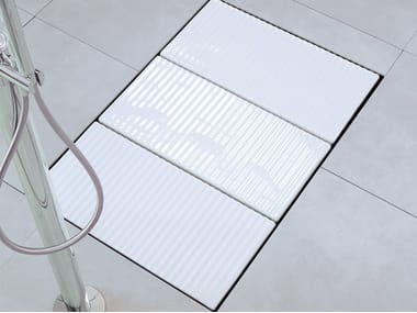 Flush fitting modular ceramic shower tray TATAMI | Modular shower tray