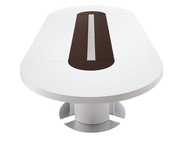Lacquered oval meeting table TAU | Oval meeting table