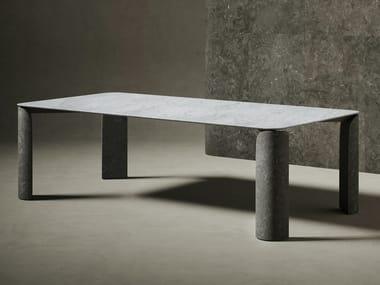 Table rectangulaire en marbre TAULA | Table rectangulaire