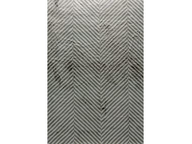 Handmade rectangular rug HERRINGBONE
