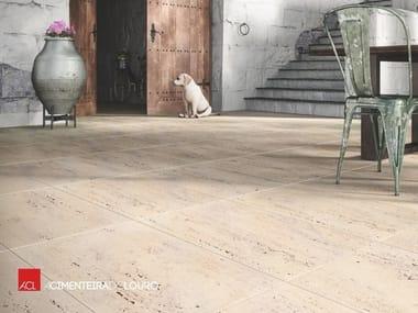 Indoor/outdoor flooring with travertine effect TRAVERTINO