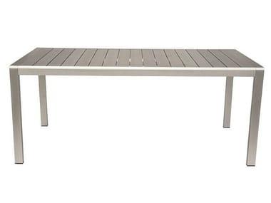 Rectangular Polywood® garden table cassia