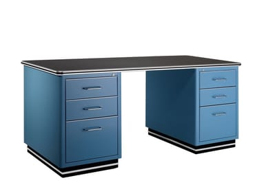 Steel office desk with drawers TB 228
