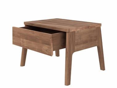 Rectangular teak bedside table TEAK AIR BED | Bedside table