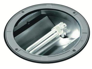 Segnapasso a pavimento fluorescente in alluminio pressofuso TECH F.1080