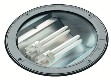 Segnapasso a pavimento fluorescente in alluminio pressofuso TECH F.1083