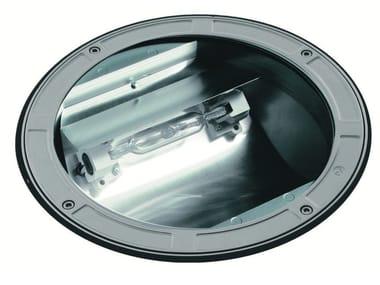 Segnapasso a pavimento alogeno in alluminio pressofuso TECH F.1087