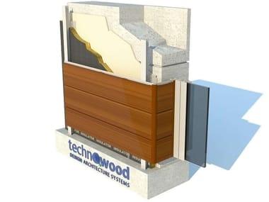 Aluminium Ventilated facade TECHNOWOOD SIDING FAÇADE SYSTEM