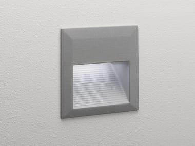 Segnapasso a LED a parete in alluminio per esterni TECLA