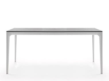 Rectangular aluminium dining table TEDDY | Rectangular table