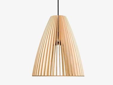 Plywood pendant lamp TEIA