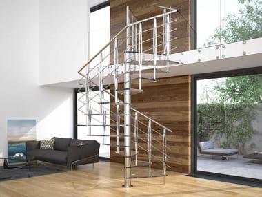 Square Glass Spiral Staircase TEKLA GLASS
