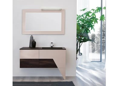 Vanity unit with mirror TEKNO 04