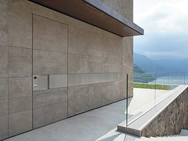 Stone safety door TEKNO   Stone entry door