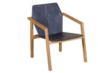Sedia impilabile in HPL con braccioli TEKURA | Sedia in HPL