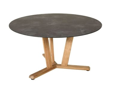 Tavolo da giardino rotondo in HPL TEKURA | Tavolo rotondo