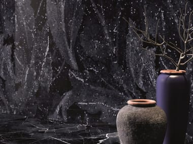 Porcelain stoneware wall/floor tiles with marble effect TELE DI MARMO REVOLUTION CALACATTA BLACK