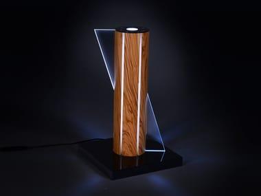 Lampada da tavolo a LED in ulivo TEMPESTA