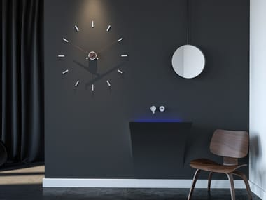 Wall-mounted metal clock TEMPO 80