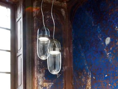 LED Borosilicate glass pendant lamp TEMPO   Pendant lamp