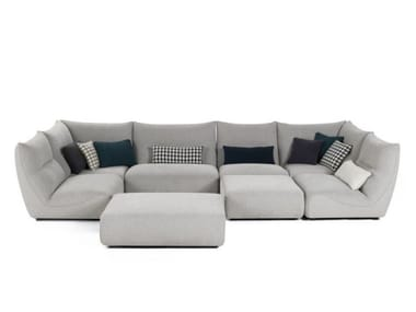 Sectional modular fabric sofa TEMPS CALME