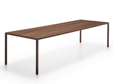 Rectangular walnut table TENSE FINE WOOD