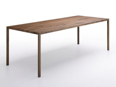 Mesa rectangular de roble TENSE MATERIAL | Mesa de roble