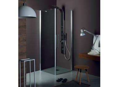 Box doccia con porta a battente TEPB42 + TELF | Box doccia angolare