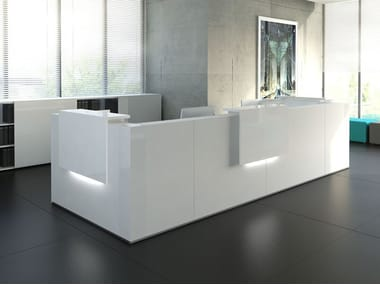 Modular Reception desk with Built-In Lights TERA