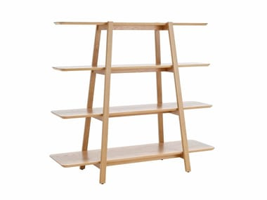 Open double-sided divider MDF shelving unit TERASSO
