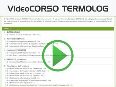 Certificazione energetica e progettazione termotecnica VideoCORSO TERMOLOG