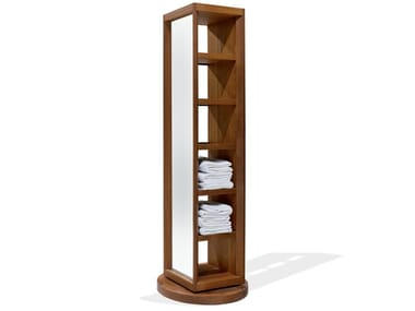 Column ash bathroom cabinet with mirror DOGI | Column bathroom cabinet