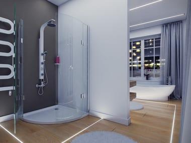 Linear lighting profile for LED modules LUMINES TERRA  Waterproof floor lighting