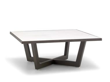 Tavolino da caffè quadrato in acciaio con piano in ceramica TERRA ME4693