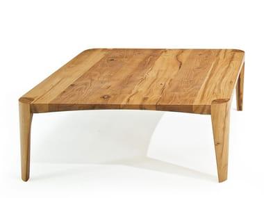 Square oak table TERRA | Square table