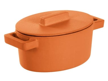 Oval cast iron stewpan with lid TERRACOTTO | Oval stewpan