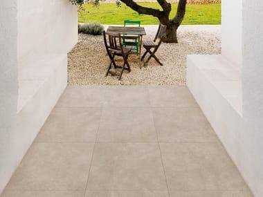 Pavimento in gres porcellanato effetto cemento per interni ed esterni TERRATECH