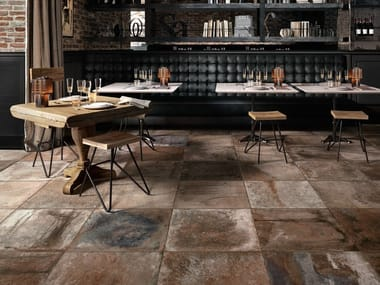 Porcelain stoneware wall/floor tiles with terracotta effect TERRE NUOVE BROWN