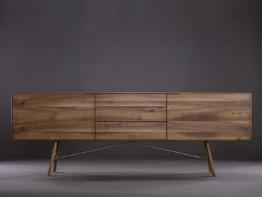 Solid wood sideboard with drawers TESA | Sideboard