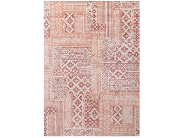 Rectangular cotton rug with geometric shapes TESSEL