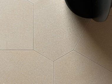 Natural stone wall/floor tiles TESSUTO POLIGONO6 GREIGE