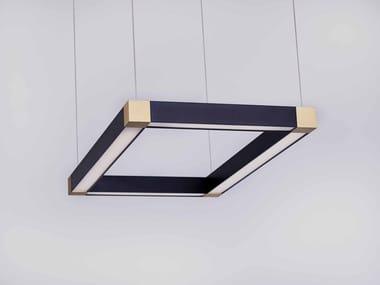LED direct light metal pendant lamp TETRA LED LIGHT