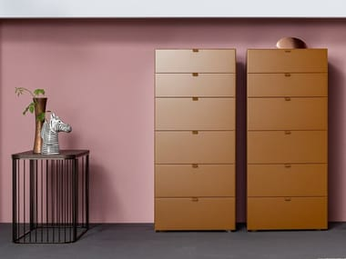 Sectional modular MDF chest of drawers TETRIS