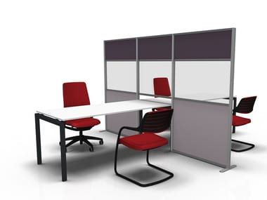 Methacrylate office screen TETRIX-DESK